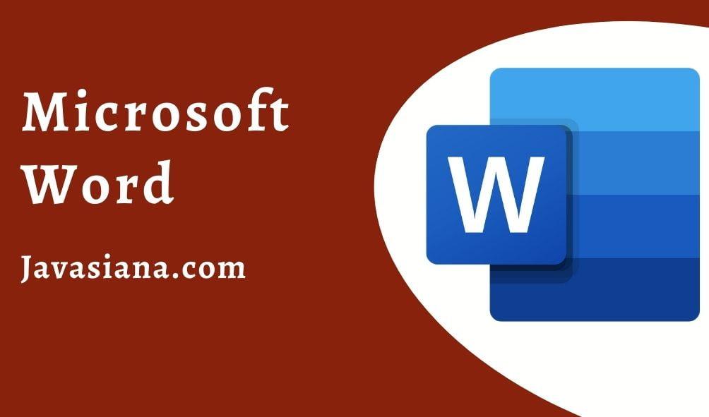 Aplikasi Pengolah Kata Microsoft Word