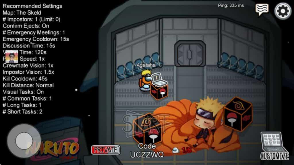 Preview Among Us Naruto Mod Apk