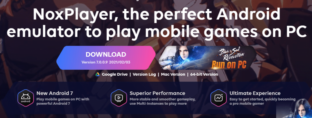 Emulator Android PC Nox Player