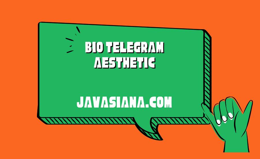 Bio Telegram Aesthetic