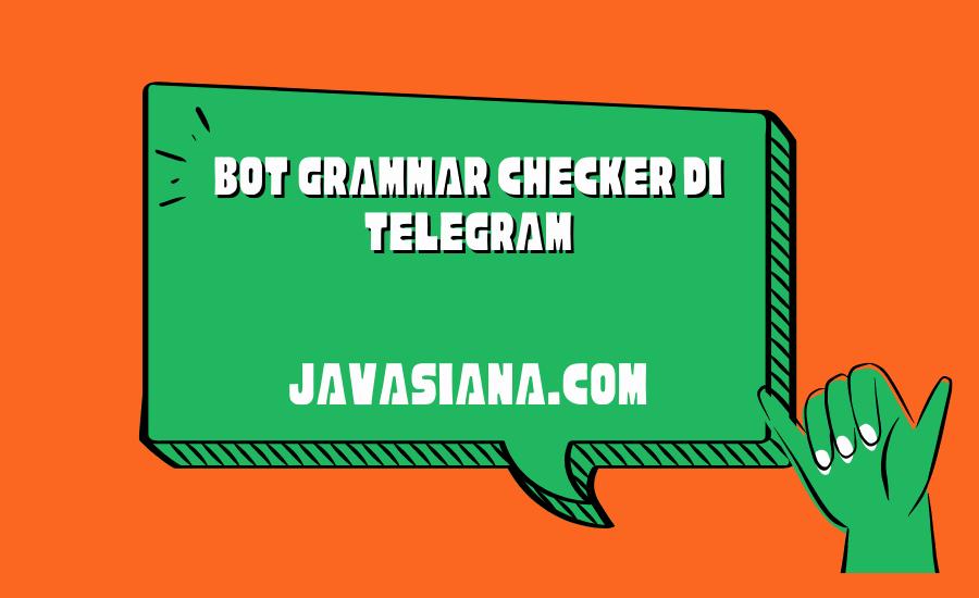 Bot Grammar Checker di Telegram