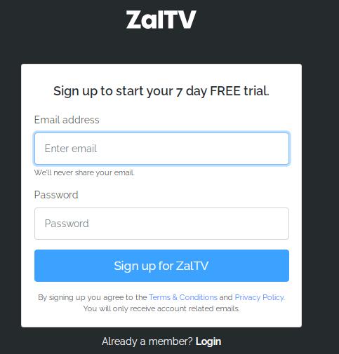 Cara Daftar Akun ZalTV