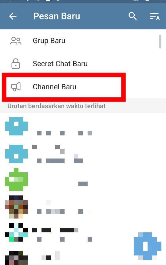 Cara Membuat Channel di Telegram