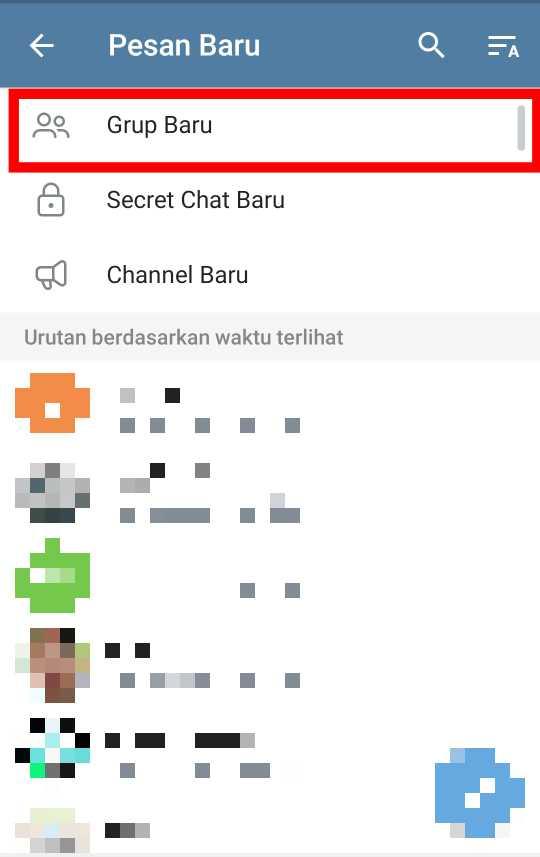 Cara Membuat Group di Telegram 1