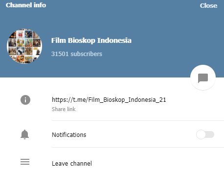 Channel Telegram Film Bioskop Indonesia