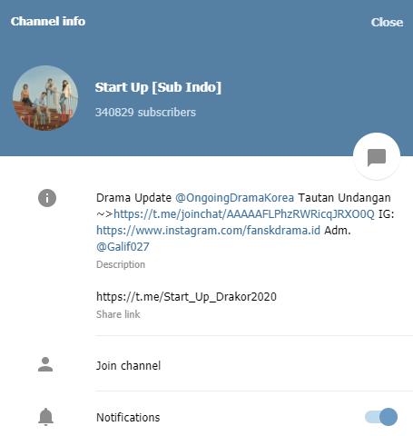 Link Drakor Start Up Sub Indo
