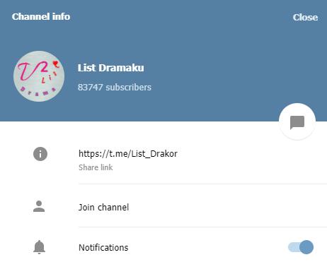 Link Channel Drakor Telegram