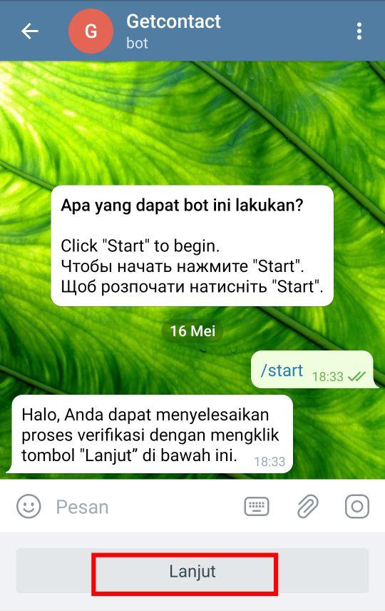 Bot Get Contact di Telegram
