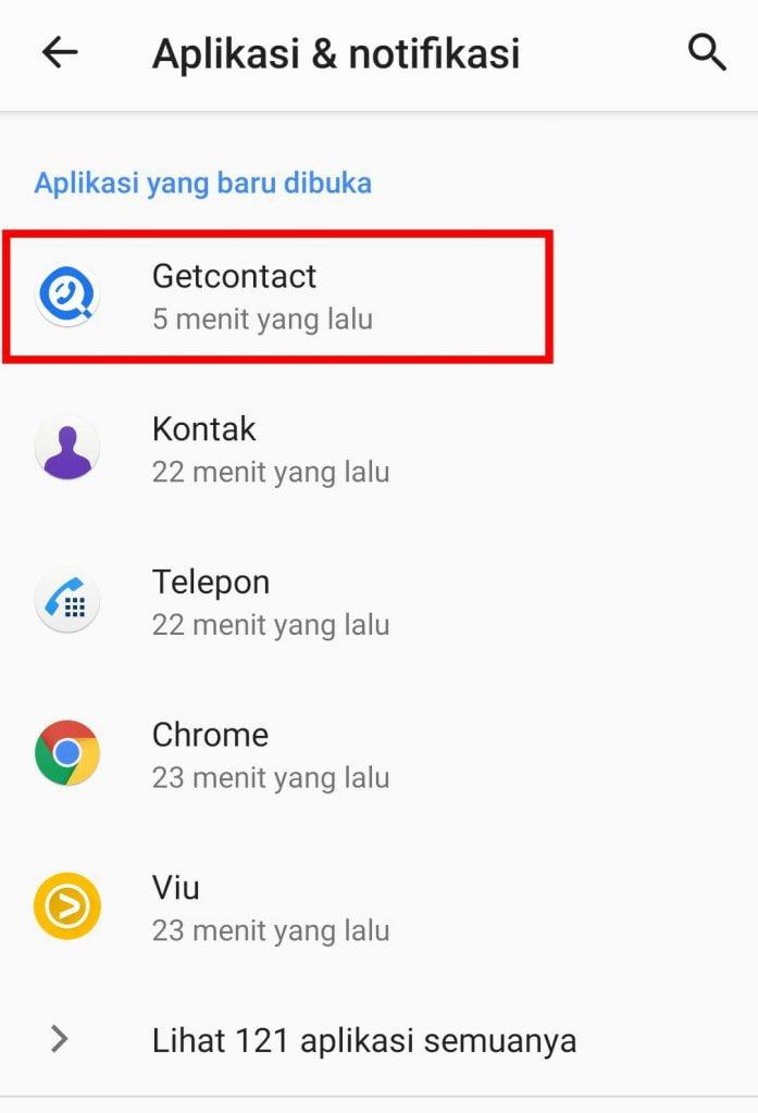 Cara Logout dari Get Contact