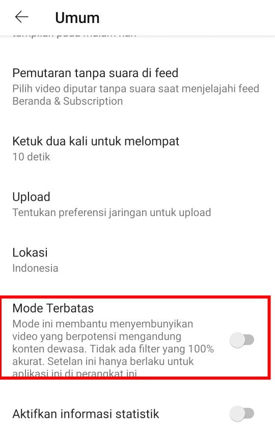 Cara Setting Youtube Untuk Anak