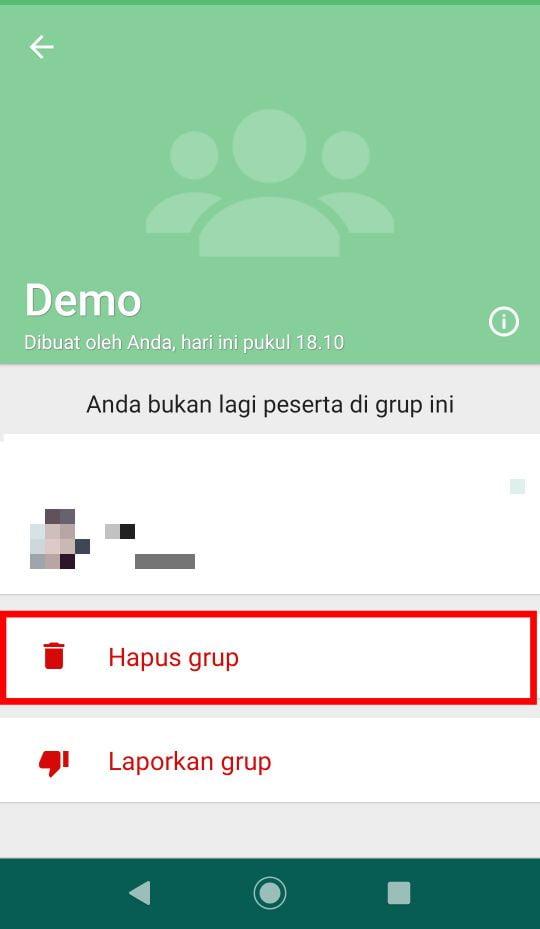 Cara Hapus Grup Whatsapp