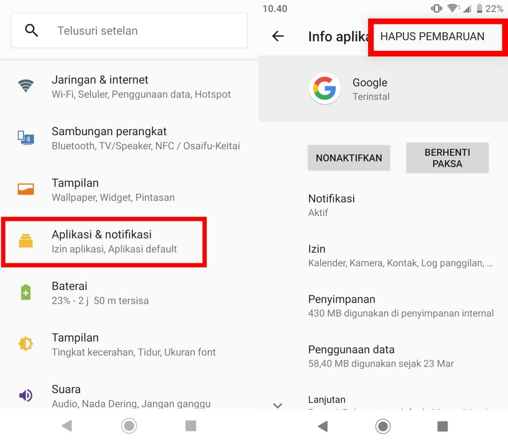 Cara Mengatasi Google Terus Berhenti