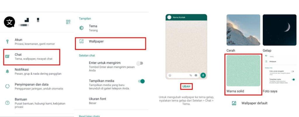 Cara Mengubah Warna di Whatsapp