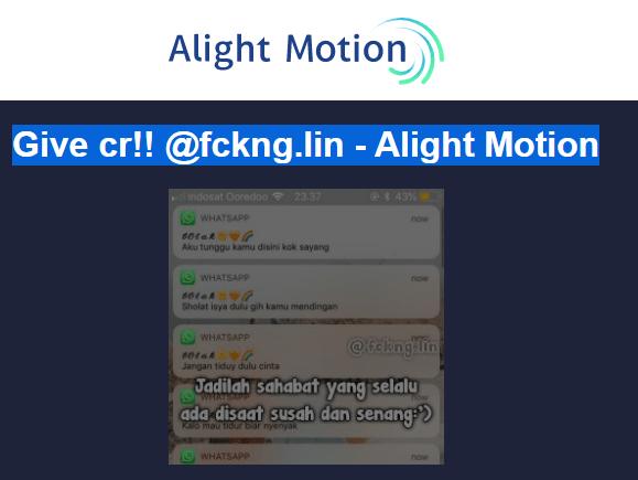 Preset Alight Motion Gelombang