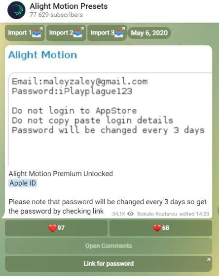 Cara Download Alight Motion Pro di iPhone