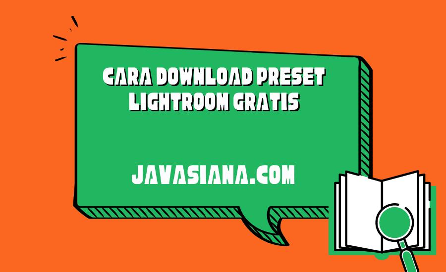 Cara Download Preset Lightroom