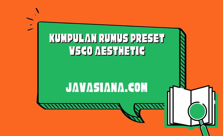 Preset VSCO