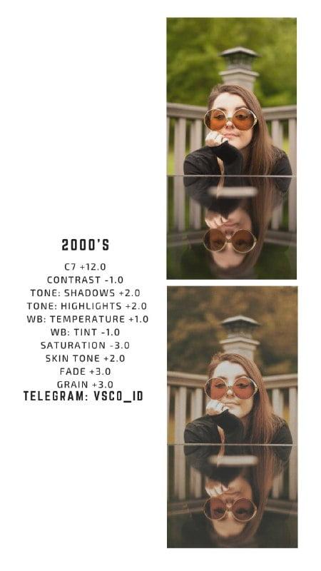 VSCO Filters 2000s