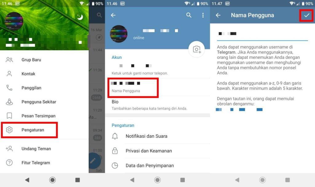 Cara Membuat Username di Telegram Yang Aesthetic