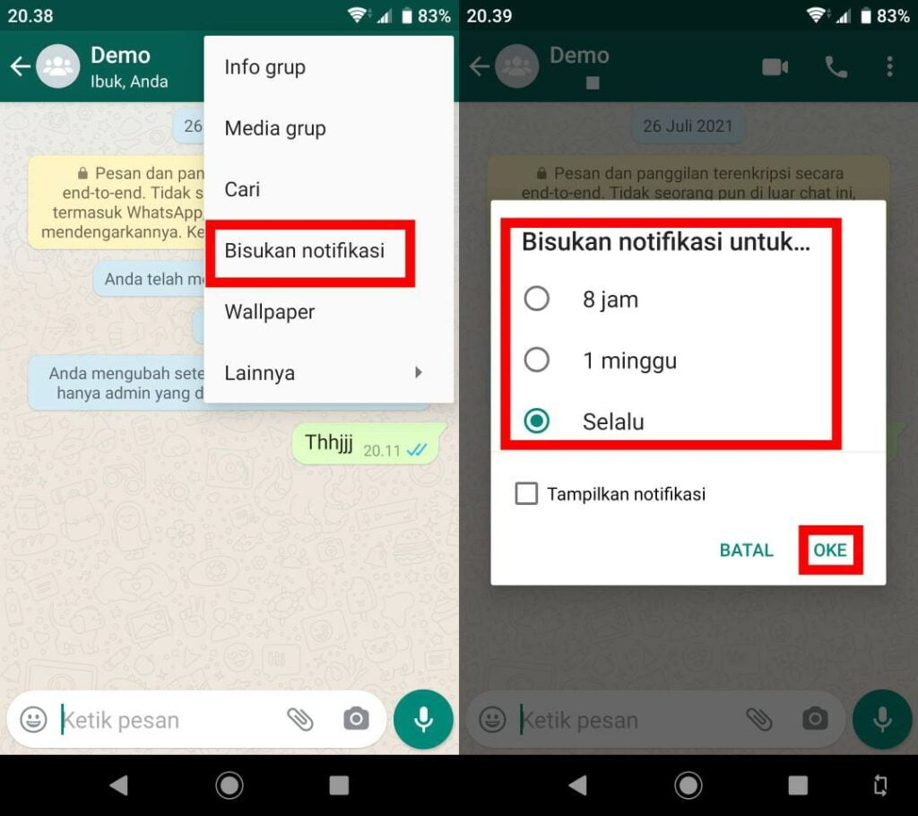 Cara Menyembunyikan Grup Whatsapp Dengan Mematikan Notifikasi