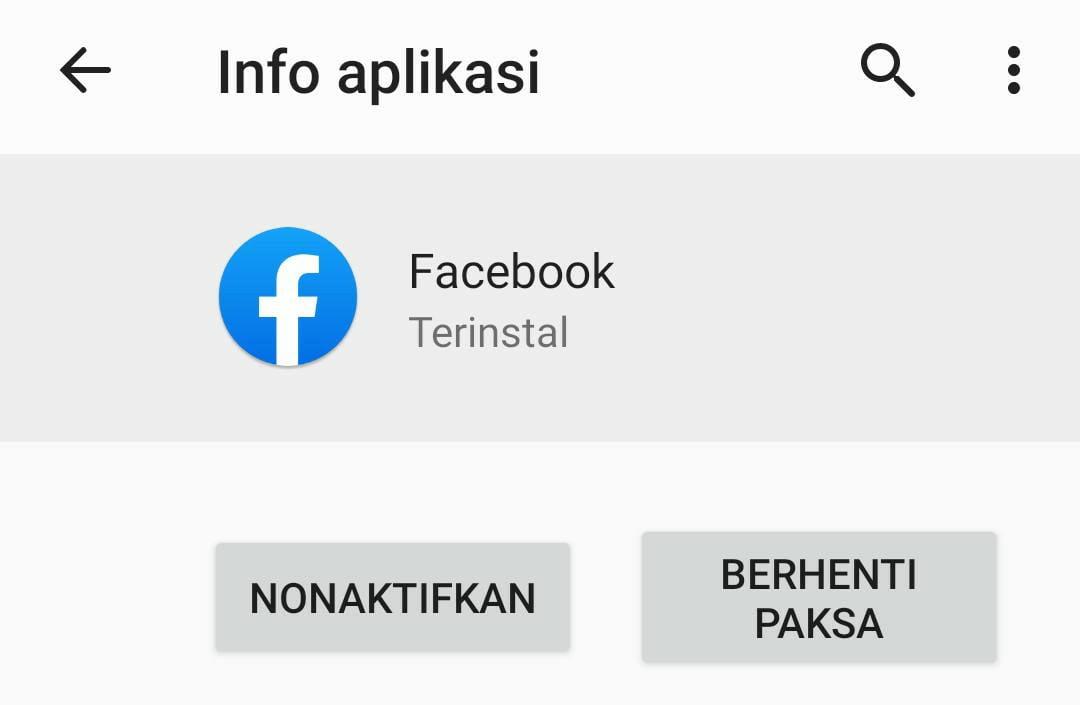 Facebook Bawaan HP