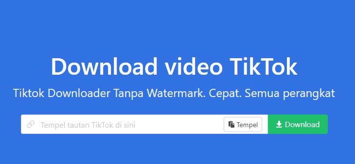 Cara Download Video TikTok Tanpa Tulisan TikTok