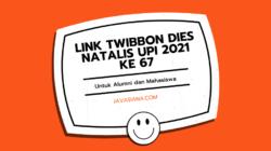 Link Twibbon Dies Natalis UPI 2021 Ke 67