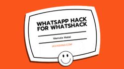 WhatsApp Hack For Whatshack